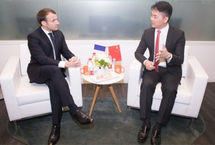JD.com Commits to Sell €2 Billion in French Imports as President Macron Meets CEO Richard Liu