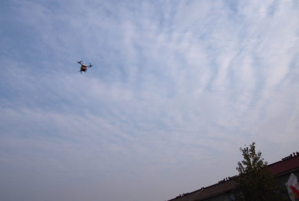 JD.com delivery drone in flight, November 9, 2016 (Suqian, China)